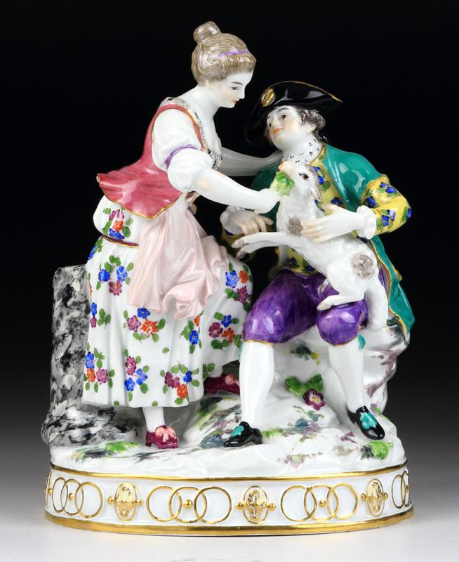 マイセン meissen フィギュリン 人形 入荷予定 珍品 古マイセン acier アシエ 古典 18世紀 19世紀 グループフィギュリン 新古典主義 日本未発売 羊飼い shepherd