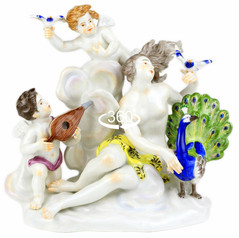 マイセン バロック人形 フィギュア フィギュリン 神話作品群 寓意四大元素風裸婦群像 1750年 ケンドラー 極美 完全体 アンティーク