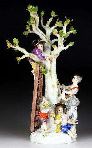 マイセン 高額 人形 グループ フィギュア フィギュリン 林檎狩り メイヤー&ケンドラー 1753年 新古典主義名作