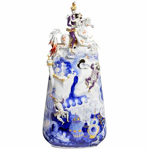 マイセン 最高峰 アラビアンナイト 千夜一夜 立体装飾花瓶 3Dベース 「サルタンと魔法の馬」 Lツェプナー&Hヴェルナー 73センチ/14.5Kg