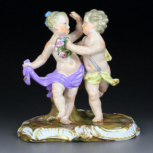 マイセン 人形 フィギュア 群像 花遊び 1769年 ケンドラー レア