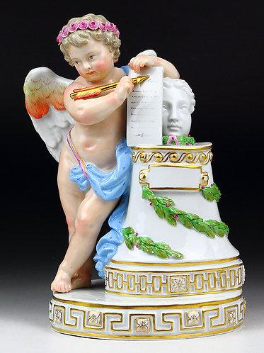 マイセン 高額 大型天使人形 大きな翼をもつ天使 1775年MVアシエ