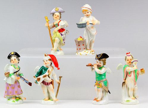 マイセン フィギュア 天使人形 キューピッド 6体セット 1級 レア