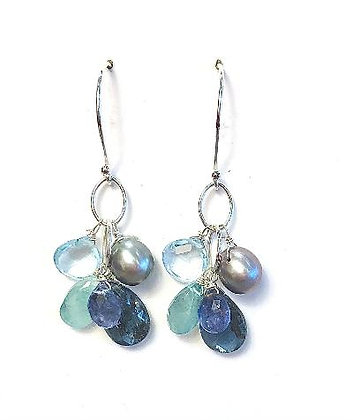 Multi-stone Cluster Earrings