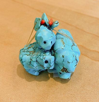 Turquoise Bear Trio Fetish