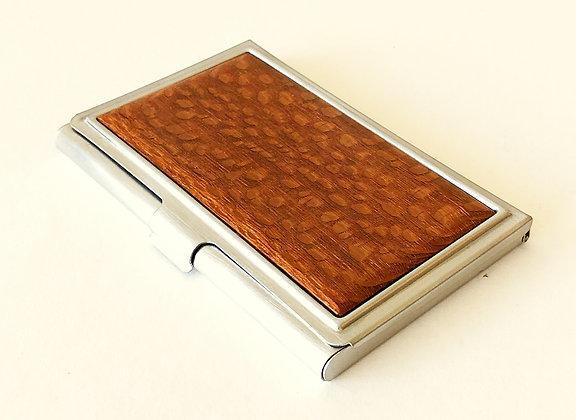 Single Wood Business Card Case