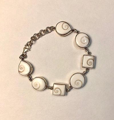 Shell & Silver Bracelet