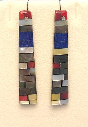 Mosaic Stone & Shell Earrings
