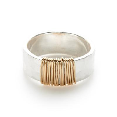 Silver Ring with Gold Wrap