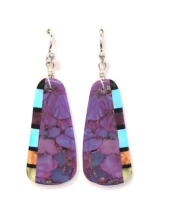 Multi-stone Slab Earrings
