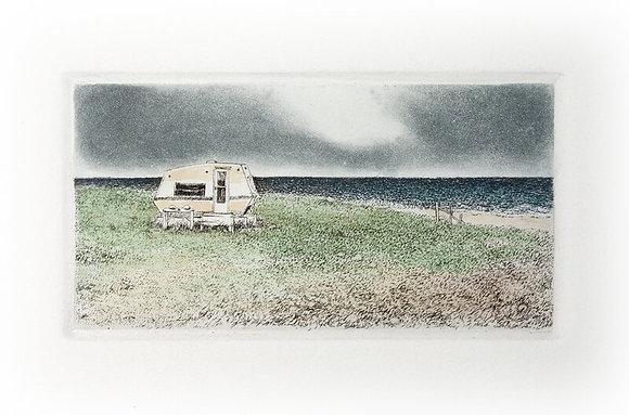 Seaside Camper Etching