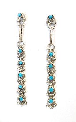 Zuni Needlepoint Turquoise Earrings