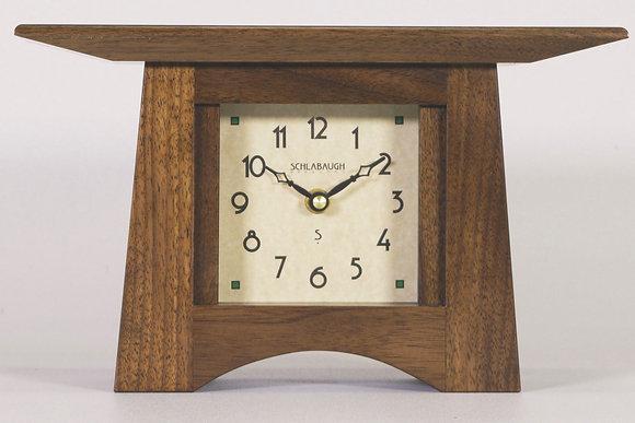 Walnut Craftsman Mantel Clock
