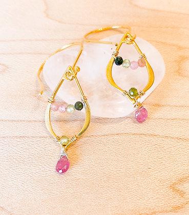 Vermeil & Tourmaline Earrings