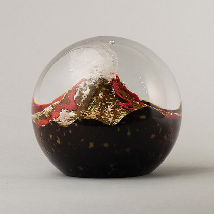 Glass Environmental Paperweight