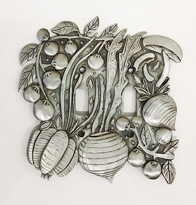 Whimsical Pewter Switchplate