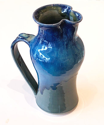 Small Blue Jade Pitcher