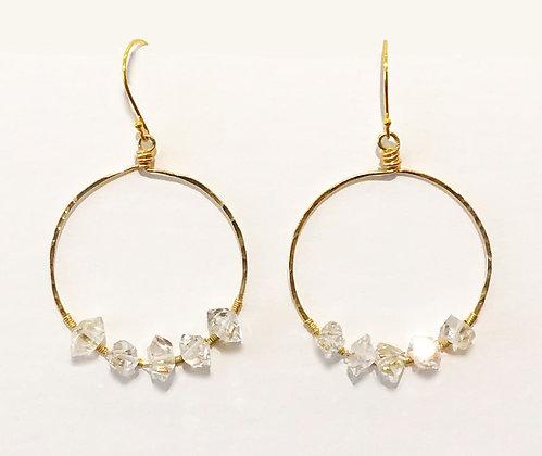 Herkimer Diamond Hoops