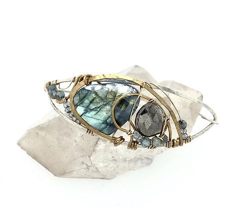 Labradorite Wrapped Bracelet