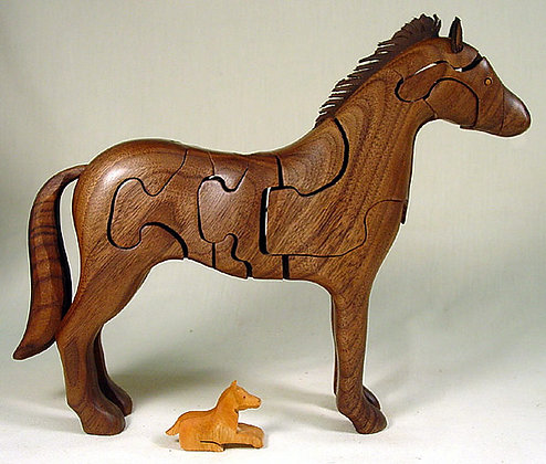 Handcrafted Wooden Horse Puzzle