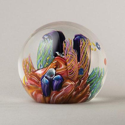 Glass Environmental Paperweight