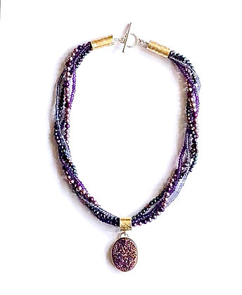 Pearl, Gemstone & Druzy Necklace