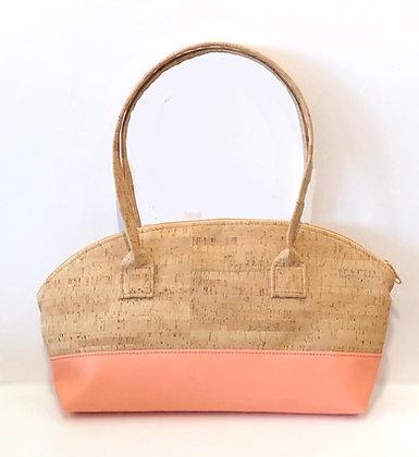 Cork Rounded Top Handbag