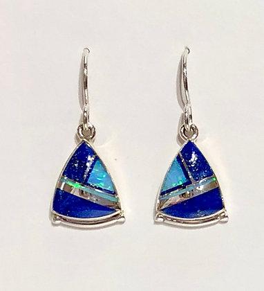 Lapis & Opal Earrings