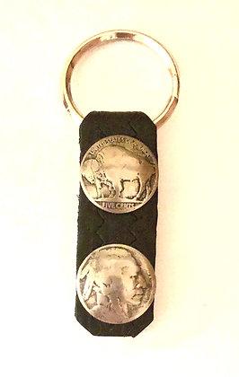 Buffalo Head Nickel Key Ring