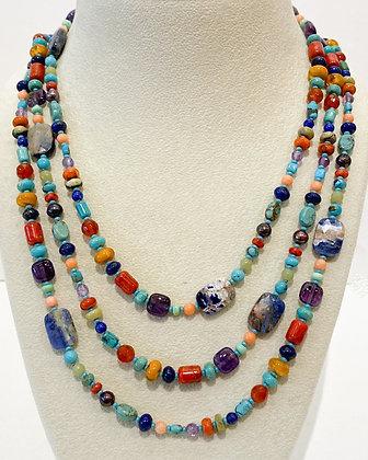 Mixed Stone Beaded Necklace