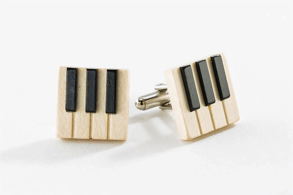 Wooden Piano Cuff Links