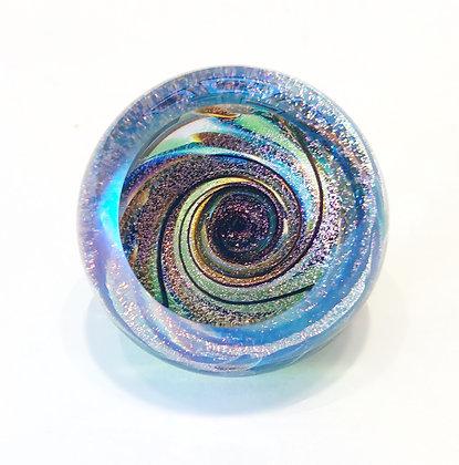 Glass Fireball Paperweight