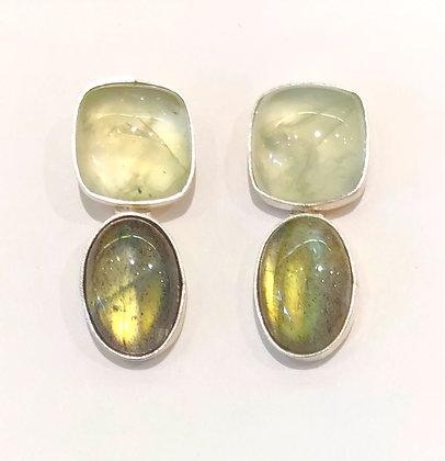 Prehnite & Labradorite Earrings