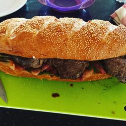 Giant steak sandwich
