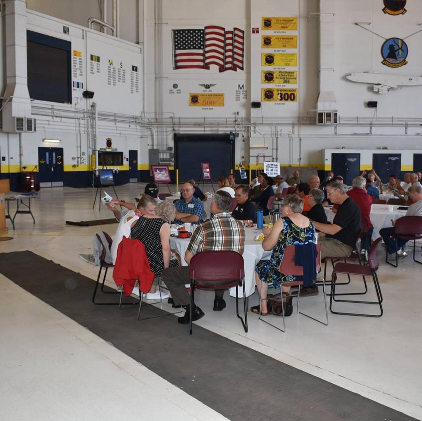 Gathering in Hangar