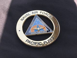 Naval Air Forces Pacific Fleet Challenge  Coin Presented