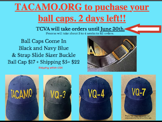 Ball Caps -- Order by end of day June 30th