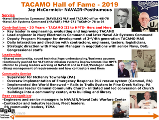 2019 TACAMO Hall of Fame Inductee - Jay McCormick