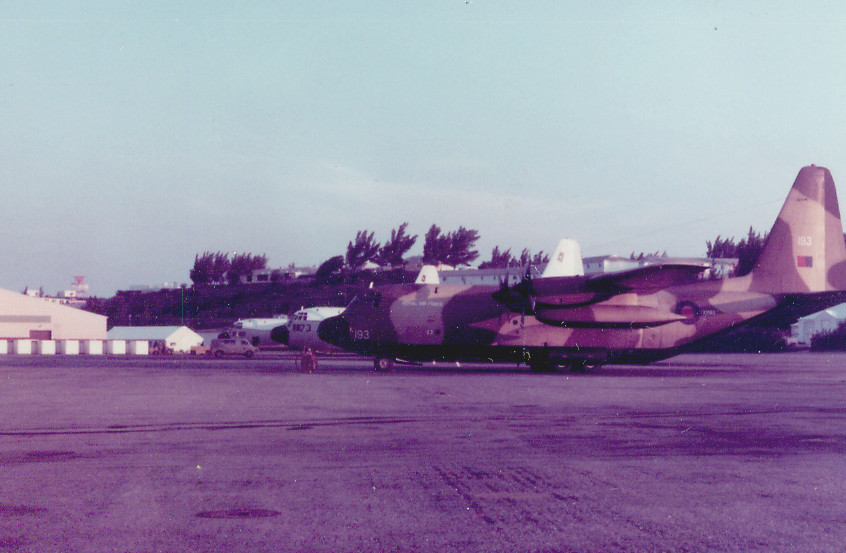 C17  Hercs on Alert at Bermuda 1977 with RAF Herc