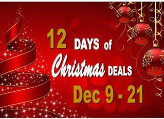 12 Deals of Christmas - Dec 9 to 21