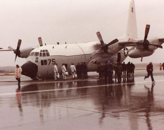 C52 Lant Herc Nose Gear Up landing David
