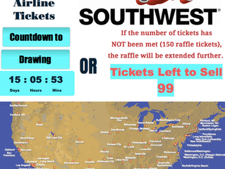 99 Southwest Airline Raffle Tickets Left