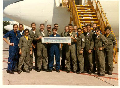 first mission crew on E6