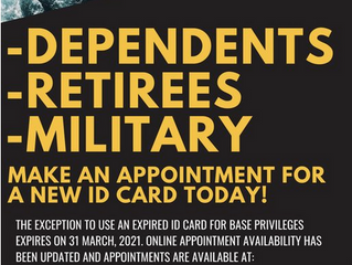 ID Card. Military/Military Dependents and Retirees