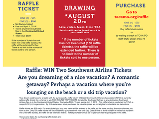 "Southwest Raffle Sales ""Open to Friends of TACAMO"""