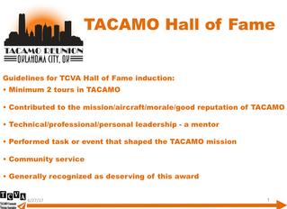 2017 TACAMO Hall of Fame Inductees