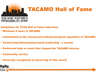 2017 TACAMO Hall of Fame Inductees