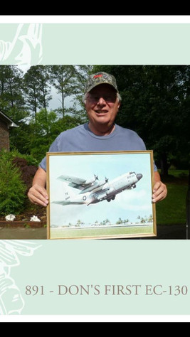 Don Lindeman with famous painting