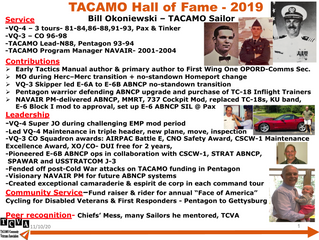 2019 TACAMO Hall of Fame Inductee - Bill Okoniewski