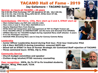 2019 TACAMO Hall of Fame Inductee - Jay Gallamore